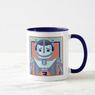 Retro Blue Robot Kids Mug