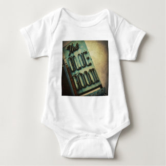 Retro Blue Room Cocktail Lounge Sign Baby Bodysuit
