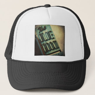 Retro Blue Room Cocktail Lounge Sign Trucker Hat