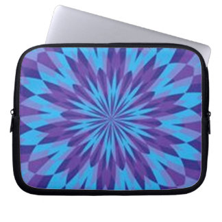 Retro Blue Splash Laptop Sleeve