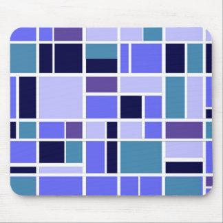 Retro Blue Squares Mouse Pad
