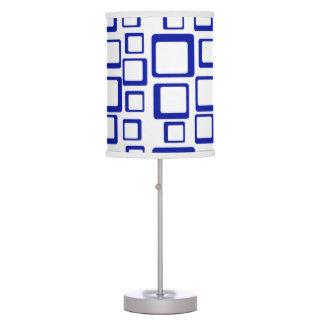 Retro Blue Squares Table Lamp