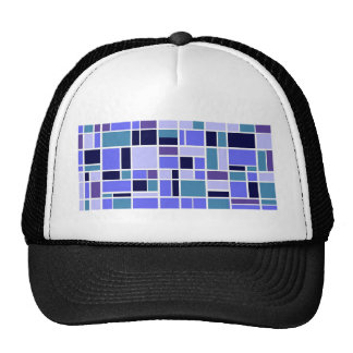 Retro Blue Squares Trucker Hat