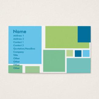 Retro Blue Tiles Business Card