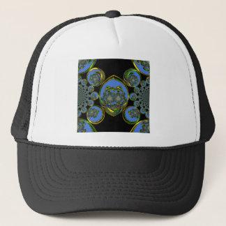Retro blue trucker hat