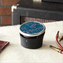 Retro Blue Turquoise Pattern Bluetooth Speaker