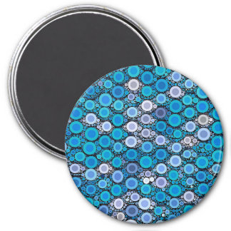 Retro Blue Turquoise Pattern Magnet