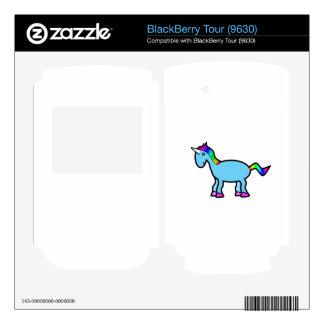 Retro blue unicorn BlackBerry tour decal