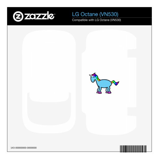 Retro blue unicorn LG octane decals