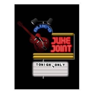 Retro Blues Juke Joint Postcard