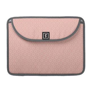 Retro Blush Pink Circles Pattern MacBook Pro Sleeve
