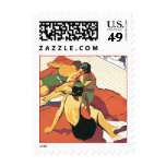 Retro Boardwalk Beach Vacation Postage Stamps