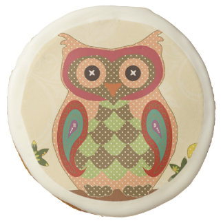 Retro Bohemian Owl Sugar Cookie
