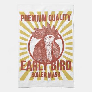Retro Boiler Mash Towel, Chicken Theme, Hen Design Towels