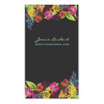 Retro bold tropical flowers calling card business card