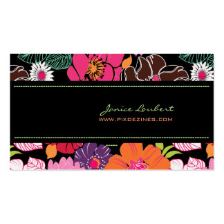 Retro bold tropical flowers/DIY background color Double-Sided Standard Business Cards (Pack Of 100)