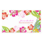 Retro bold tropical flowers/gold stock business card template