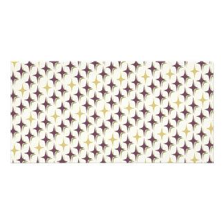 Retro Bonnie Four Point Stars Card