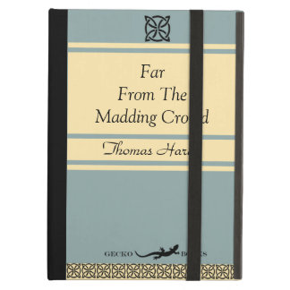Retro Book In Vintage Blue Featuring Thomas Hardy iPad Air Cover