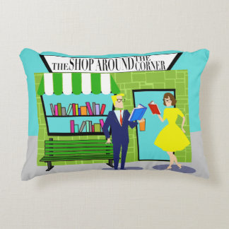 Retro Book Lovers Accent Pillow