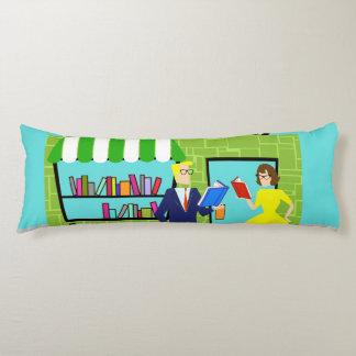 Retro Book Lovers Body Pillow