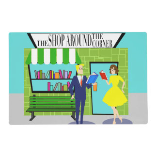 Retro Book Lovers Laminated Placemat