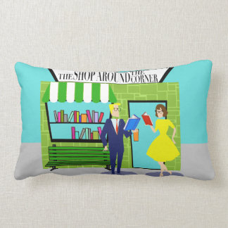 Retro Book Lovers Lumbar Pillow