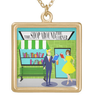 Retro Book Lovers Necklace