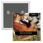 Retro Book Lovers Pinback Buttons