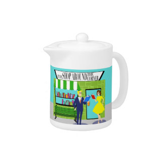 Retro Book Lovers Teapot