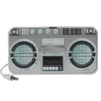 retro boom box ghetto blaster chrome bling laptop speakers