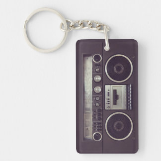 Retro Boombox Cassette Player Funny keychain
