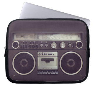 Retro Boombox Cassette Player Funny laptop sleeve