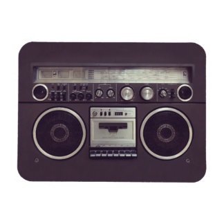 Retro Boombox Cassette Player Funny magnet
