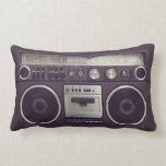 "Retro Boombox Cassette Player Funny pillow<br><div class=""desc"">Funny pillow featuring a retro boombox ghetto blaster radio cassette player from the &#39;80s. A hip and cool accessory for a child of the &#39;80s retro music lover.</div>"