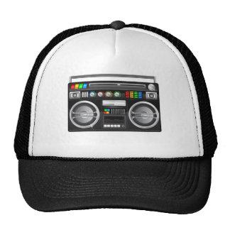 retro boombox ghetto blaster graphic hats