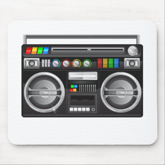 retro boombox ghetto blaster graphic mouse pad