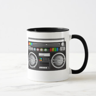 retro boombox ghetto blaster graphic mug