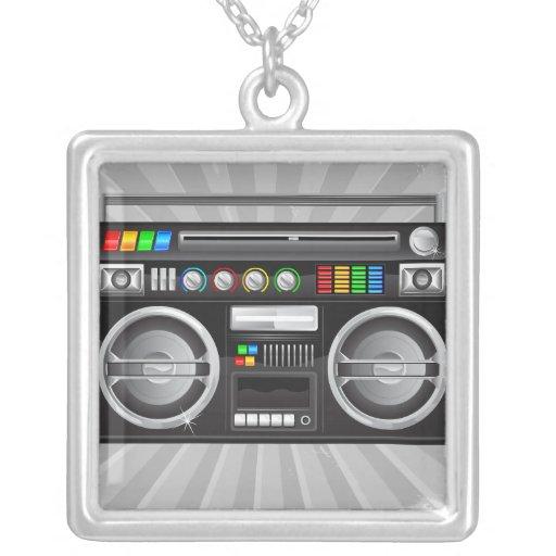 retro boombox ghetto blaster graphic custom jewelry