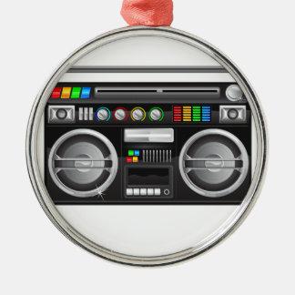 retro boombox ghetto blaster graphic christmas ornaments