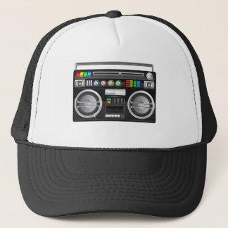 retro boombox ghetto blaster graphic trucker hat