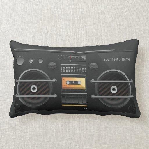 Retro BoomBox Ghetto Blaster Pillow