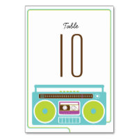 Retro Boombox Indie Mixtape Wedding Blue / Lime