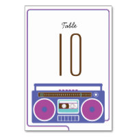 Retro Boombox Indie Mixtape Wedding Purple / Blue