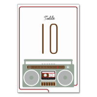 Retro Boombox Indie Mixtape Wedding Red / Black