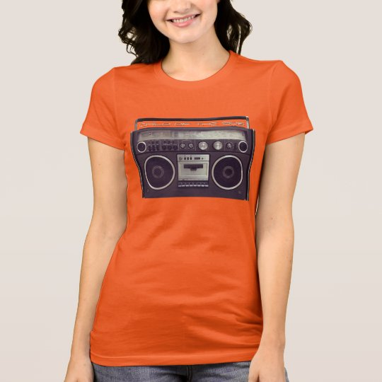 Retro Boombox Stereo Ghetto Blaster Funny shirt