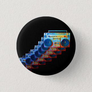 Retro Boomboxes Button