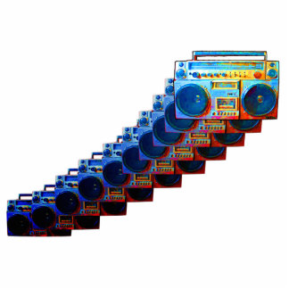 Retro Boomboxes Sculpted Magnet
