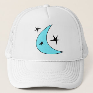 Retro Boomerang Moon & Stars Trucker Hat
