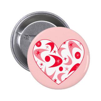 Retro Boomerang Valentine Heart Pin